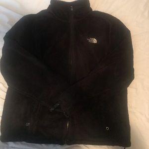 Fuzzy soft north face jacket
